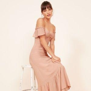 Reformation: Butterfly Dress, Blush, Size 4